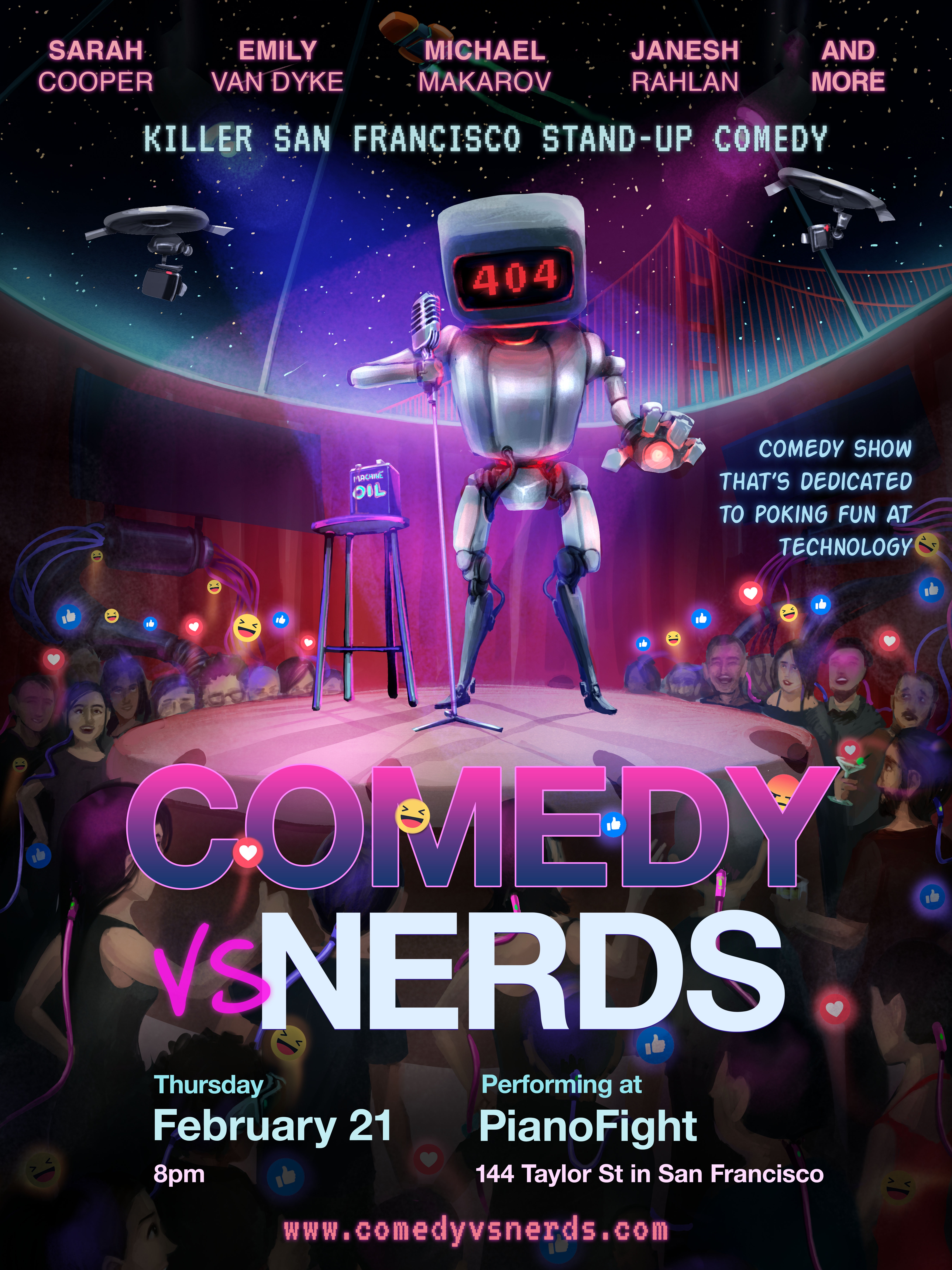 Comedy vs. Nerds poster
